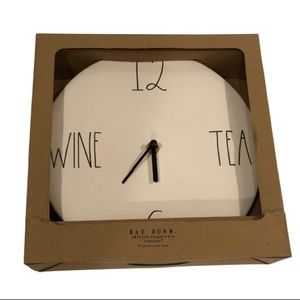 Rare!! In Box Rae Dunn Wine and Tea Clock!